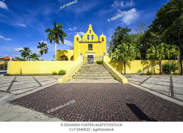 Ermita de Santa Isabel, Colonial church in Merida, Yucatan (Mexico, Central America)