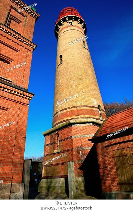 new Schinkelturm and old lighthouse right, Germany, Mecklenburg-Western Pomerania, Ruegen, Kap Arkona