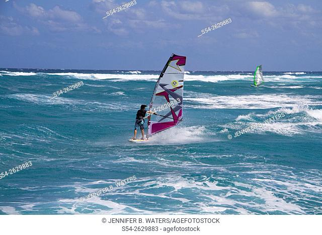Windsurfers in Delray Beach, Florida, USA