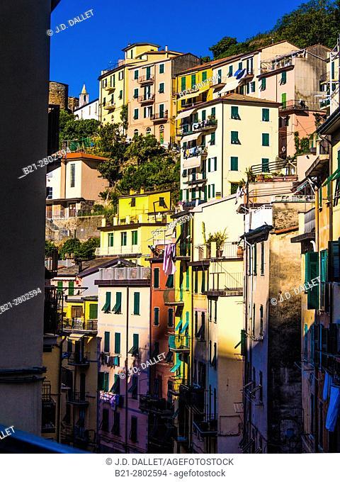 Italy, Cinque Terre, at Riomaggiore