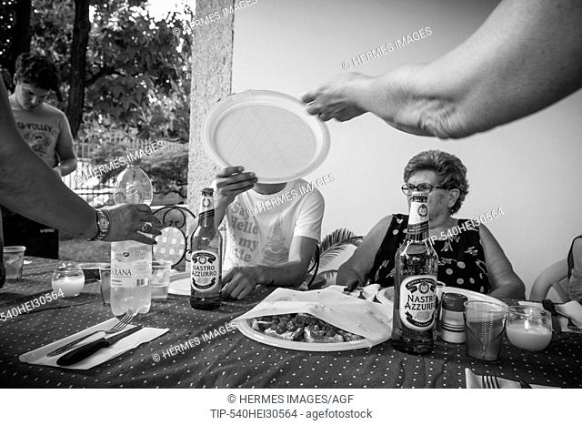 Italy, Casorezzo, Family Ferragosto celebration