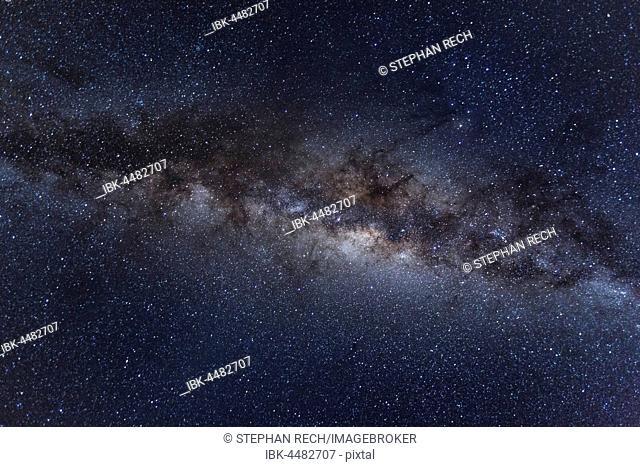 Starry sky, Southern Milky Way, Botswana