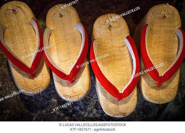 Maiko shoes Okobo tall wooden shoes Kyoto  Kansai, Japan