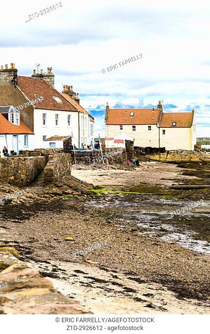 Pittenweem sea front. Fife Scotland UK
