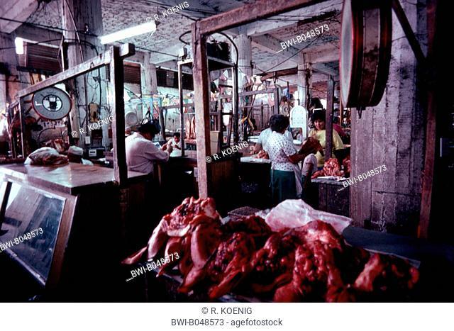 meat market, Paraguay, Asuncion