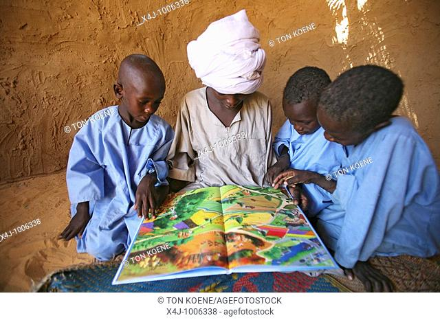 primary school organised by UNHCR in bahai refugee camp  SUdanese refugee children recieve education in these schools