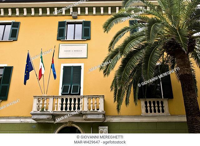 municipio, moneglia, liguria, italia