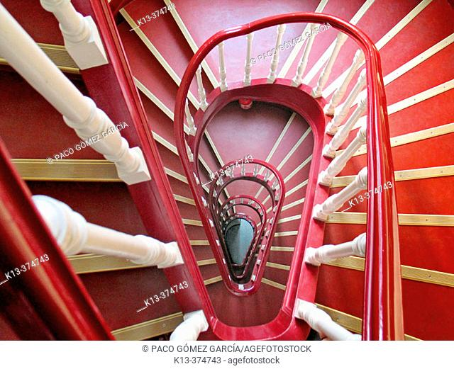 Spiral stairs. Brussels. Belgium
