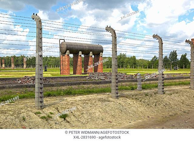 The Auschwitz II-Birkenau concentration camp, Oswiecim, Poland, Europe
