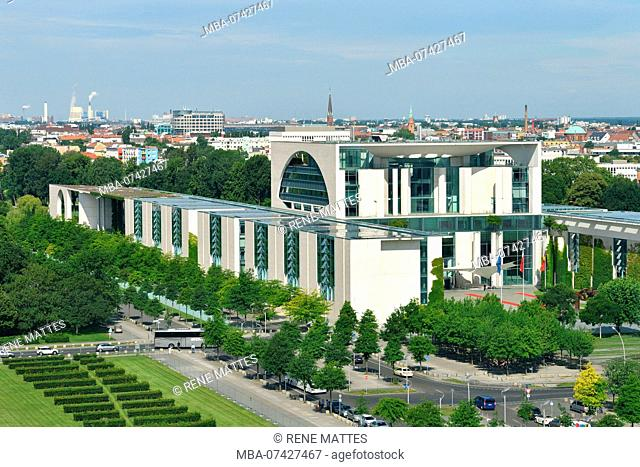 Germany, Berlin, Tiergarten district, the Reichstag or German Bundestag (German Parlement since 1999), a building conceived by Paul Wallot, inaugurated in 1894