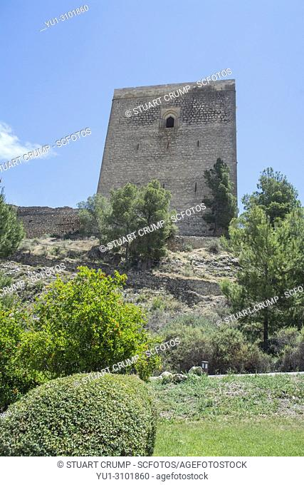 The Alfonsina Tower at Lorca Castle in Murcia Spain