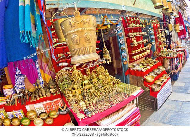 Souvenirs Shop, Durbar Square, UNESCO World Heritage Site, Patan, Latipur, Bhaktapur, Kathmandu, Nepal, Asia