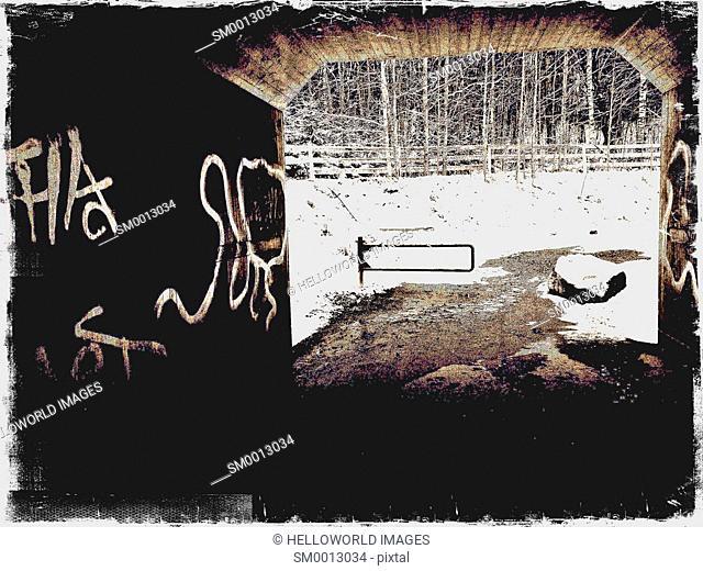 Graffiti in underpass, Sweden, Scandinavia