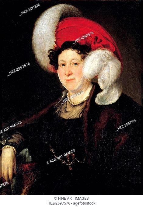 Portrait of Countess Natalia Alexandrovna Zubova (1775-1844), née Suvorova, 1834. Found in the collection of the State Tretyakov Gallery, Moscow