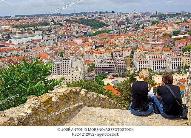 Lisbon, View from St  George's Castle, Portugal, Europe