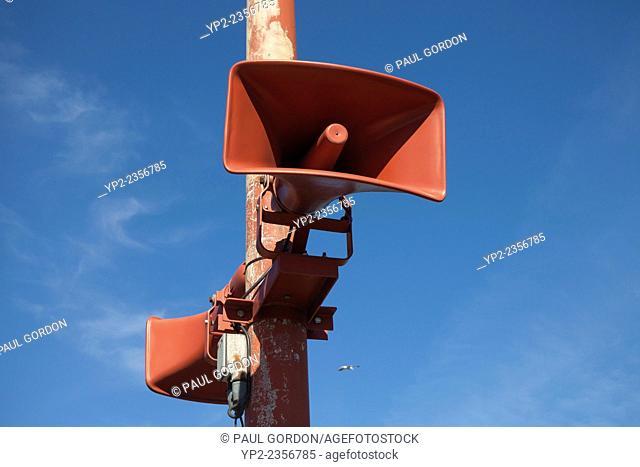 Warning siren on the Golden Gate Bridge - San Francisco Bay, San Francisco, San Francisco County, California, USA