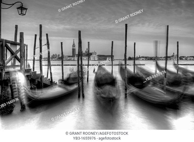 Gondolas off St Marks Square, Venice, Italy