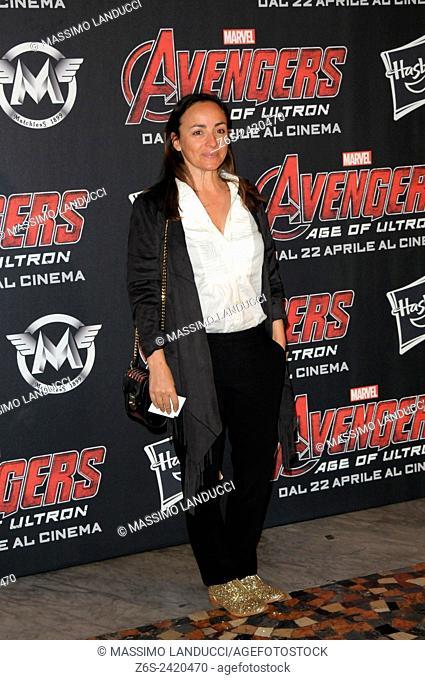 Camila Raznovich ; Raznovich; actress ; celebrities; 2015;rome; italy;event; red carpet ; avengers, age of ultron