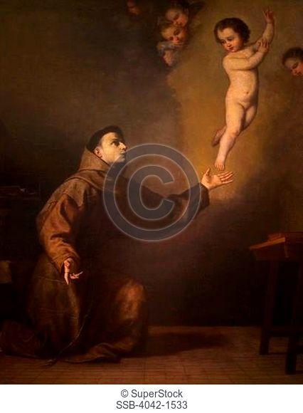 Saint Antony of Padua, by Jose de Ribera, Museo de la Real Academia de Bellas Artes de, Royal Academy of, San Fernando, Madrid, Spain, Europe, EU
