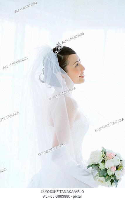Attractive Japanese bride