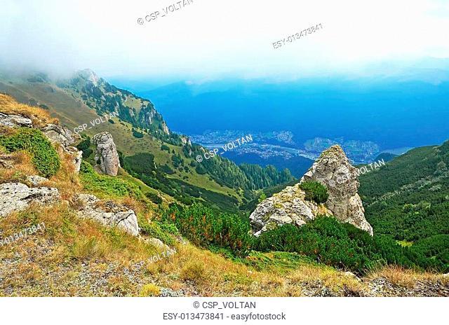 Mountain landscape in Transylvania, Romania