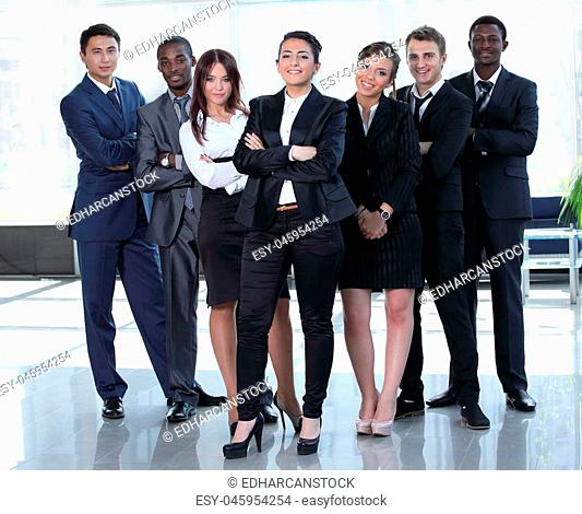 Global business, management, connection and people concept. Business team