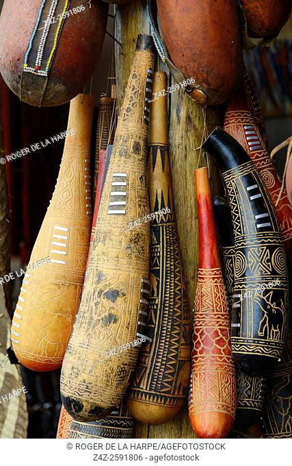 Gourd used by Maasai people to store milk and other liquids. . Tanzania