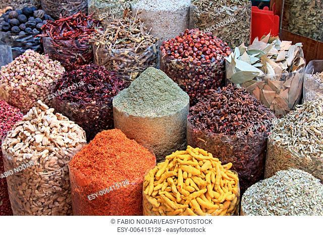 Spices in the spice souk in Dubai...