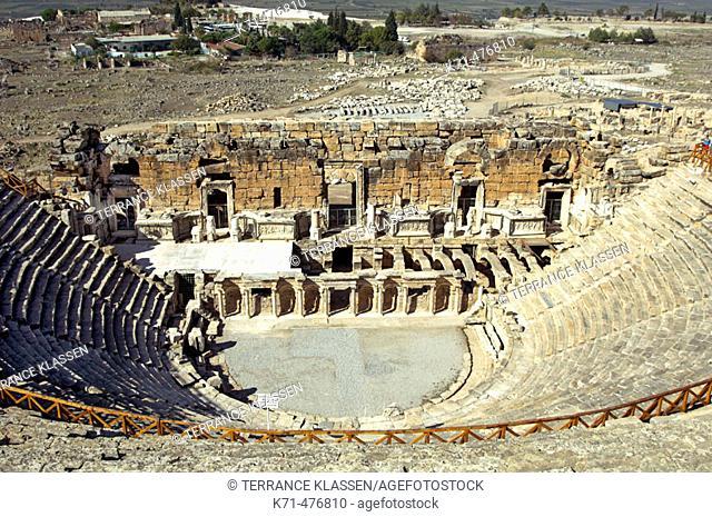 The roman Theatre in the ruins of Hierapolis, Turkey