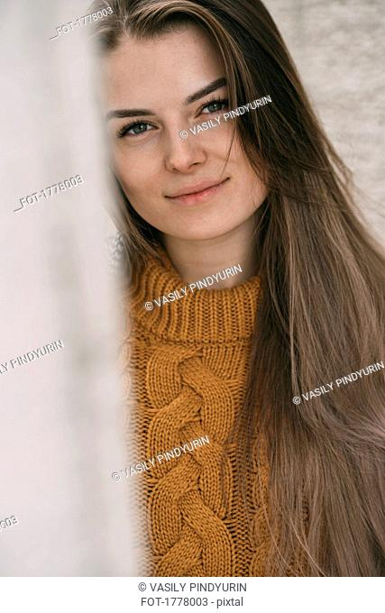Portrait smiling young woman