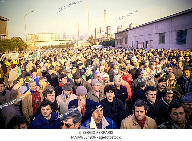 bagnoli workers demonstration