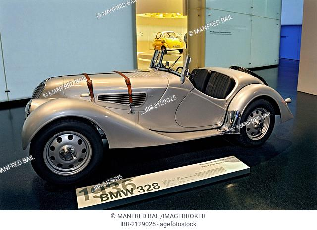 BMW-328, from 1936, BMW Museum, Munich, Bavaria, Germany, Europe