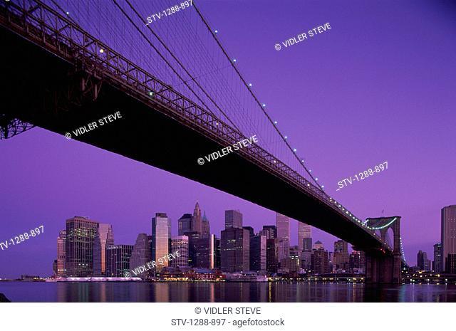 Bridge, City, Dawn, Dusk, Holiday, Landmark, Metropolis, New york, New york city, Skyline, Skyscrapers, Tourism, Travel, Vacatio