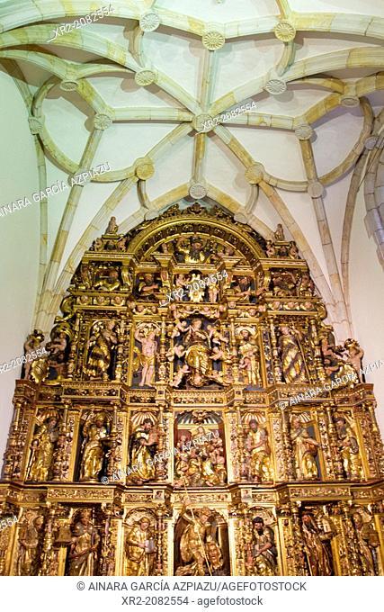 Altarpiece inside the Sancti Spiritus University, Oñati, Basque Country