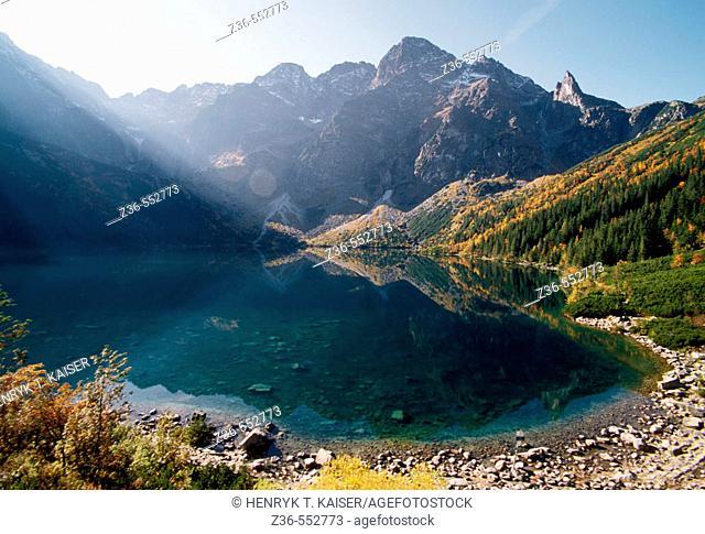 Eye of the Sea lake in Tatra Mt Poland