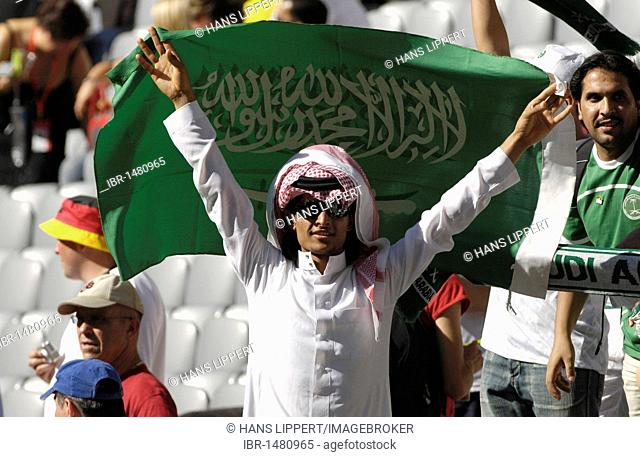 Saudi-Arabian football fan at the World Cup 2006 in Germany