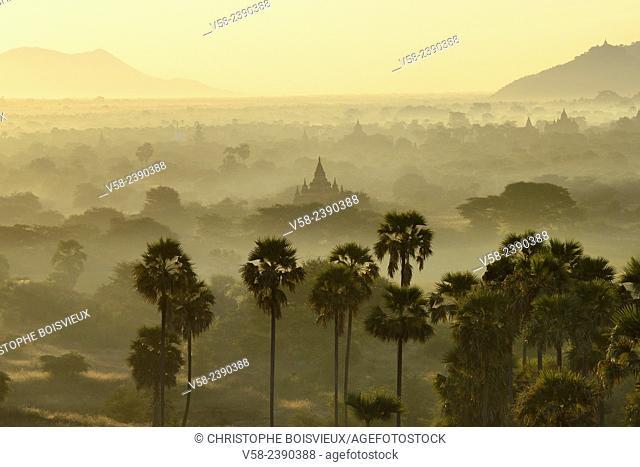 Myanmar, Bagan from above