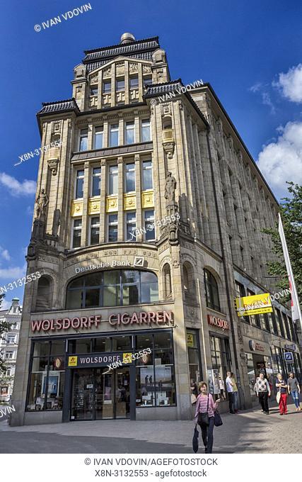 Vintage building, early 20th century, Hamburg, Germany