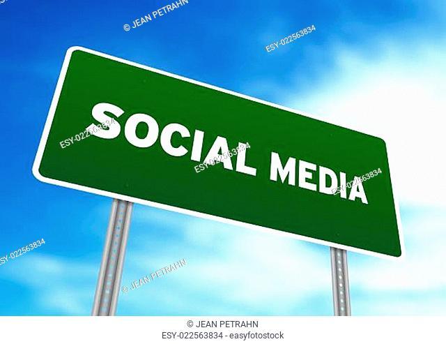 Social Media Highway Sign