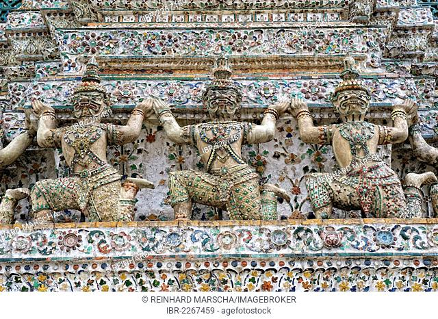 Wat Arun, Temple of Dawn, Bangkok, Thailand, Asia