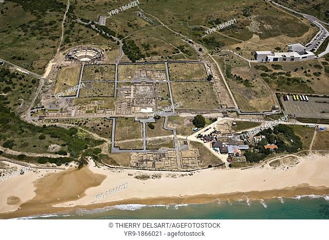 Ancient Roman town of Baelo Claudia near Tarifa. Cadiz Province, Spain. From 1st century AC till 2nd century, partly destroyed by a tidal wave around year 200