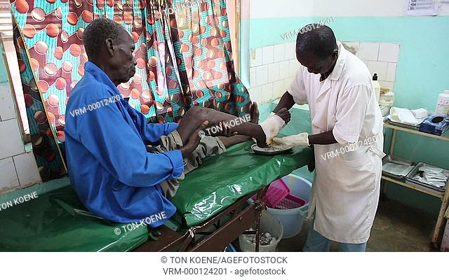 sick patients at hospital in central african republic