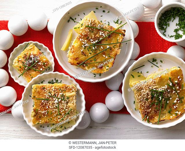 Potato gratin with amaranth