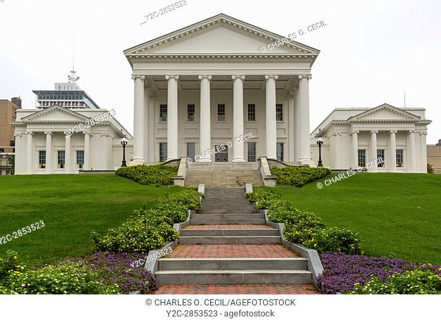 Richmond, Virginia. The State Capitol Building. Architectural Style: Early Republic, Palladian