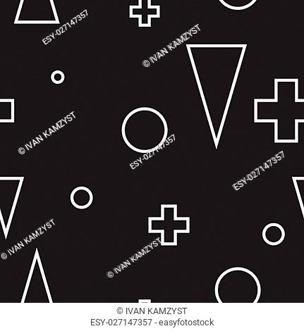 Abstract geometric minimalist seamless black and white pattern. Perfect illustration for web background or print wrapping decoration and fashion textile, fabric