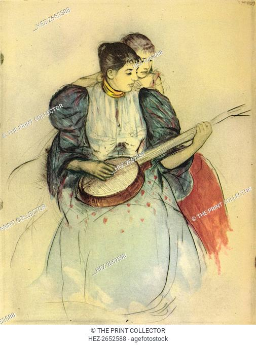 'The Banjo Lesson', 1893, (1946). From The Etchings of the French Impressionists and Their Contemporaries, by Edward T. Chase
