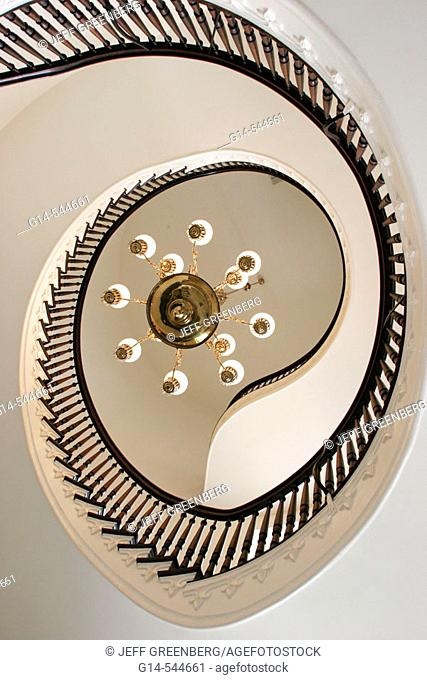 Alabama, Montgomery, State Capitol Building, spiral stairs