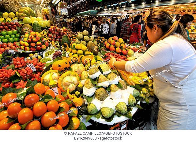 Sant Josep (aka La Boqueria) market, Barcelona, Catalonia, Spain