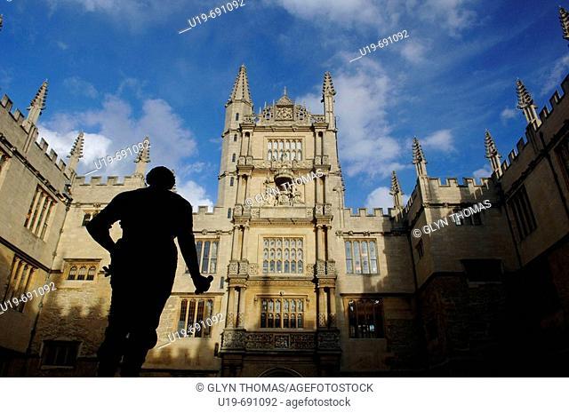 Bodleian library, Oxford University, Oxfordshire, England, UK