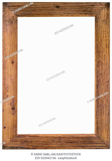Old Wooden Picture Frame Cutout